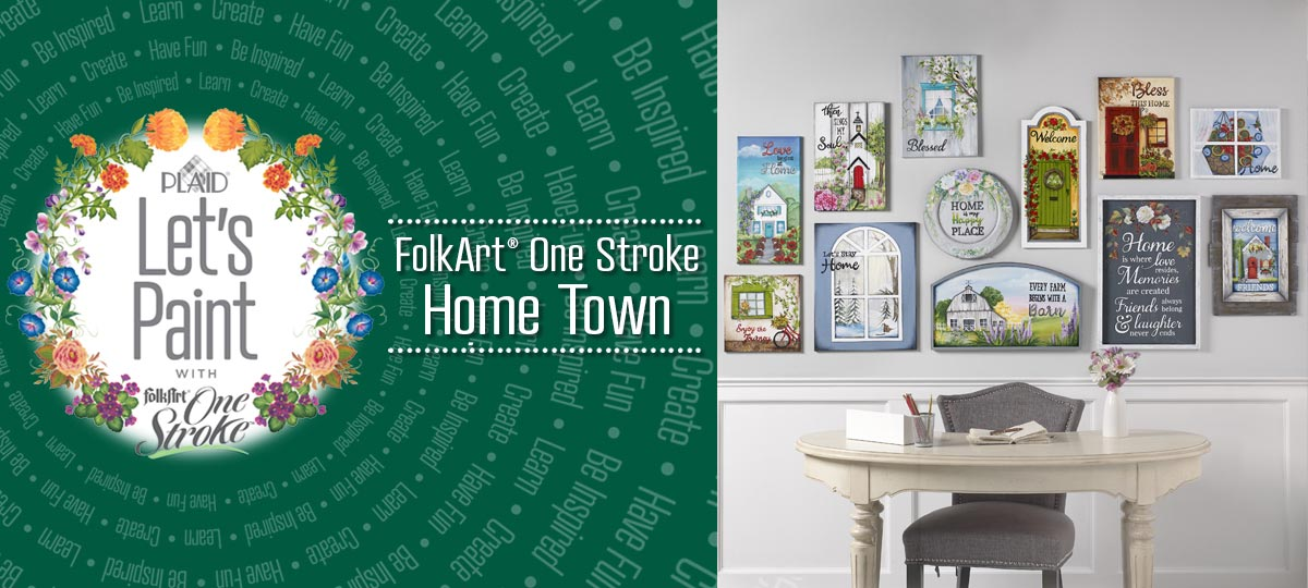Home Town from FolkArt One Stroke
