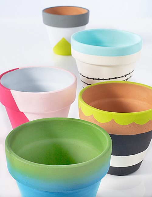 13 Painted Clay Pot Ideas The Plaid Palette Diy Craft Ideas Products And More Plaid Online