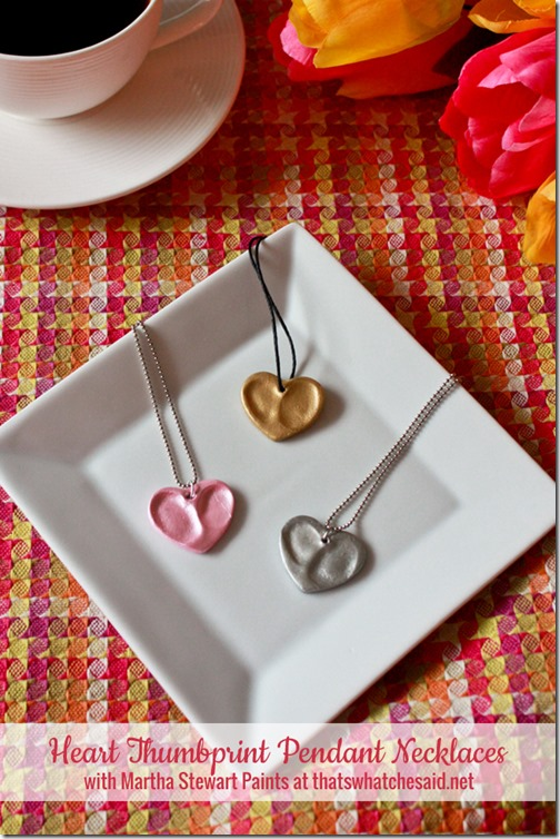 DIY Thumbprint Charm Necklace Keepsake
