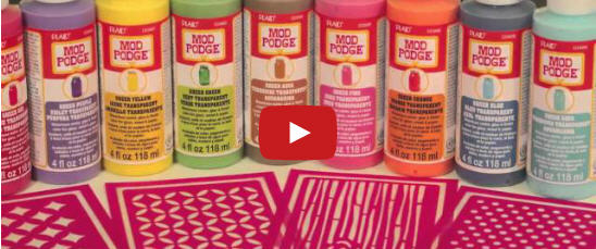 Learn How to Stain Wood with Mod Podge Sheer Colors