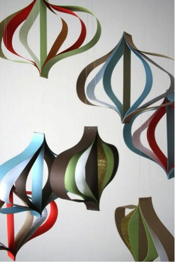 diy modern paper ornaments tutorial available via designsponge