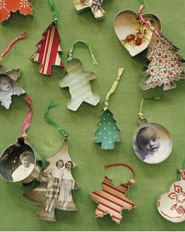 diy cookie cutter ornaments tutorial available via martha stewart - Christmas Ornament Craft