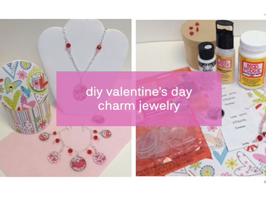 DIY Charm Bracelet and Necklace for Valentine's Day