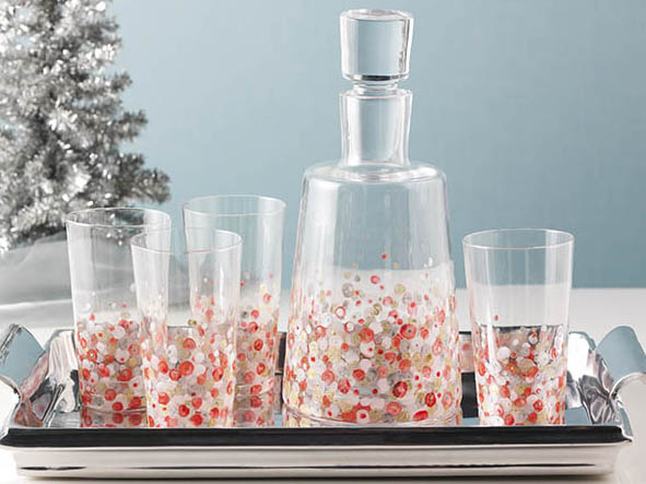 Painted Confetti Barware Set