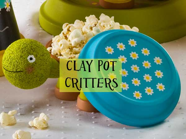 Create a Garden Party with Clay Pot Critters & Handmade Charlotte Stencils!