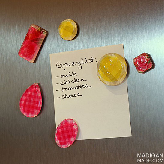 Easy Color Washed Jewel Magnets