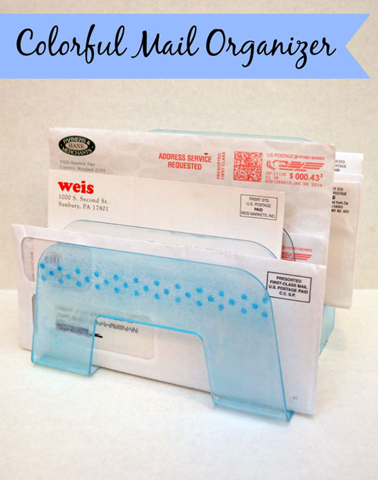 Colorful Mail Organizer
