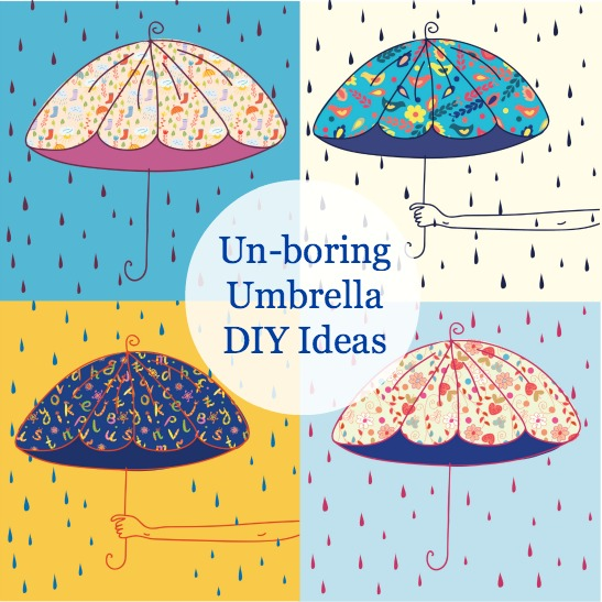 5 Reasons To Play In the Rain: DIY Painted Umbrella Ideas
