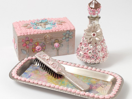 Sweet Girls Rhinestone Vanity Set