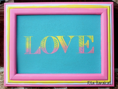 Love Stenciled Wall Decor
