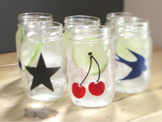 "Mason Jars and More From ""Mr. Stencil"""