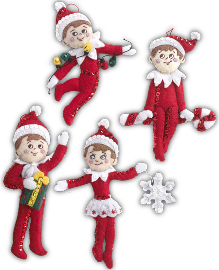 Introducing Bucilla Elf On The Shelf Stitchery Kits Plaid Online