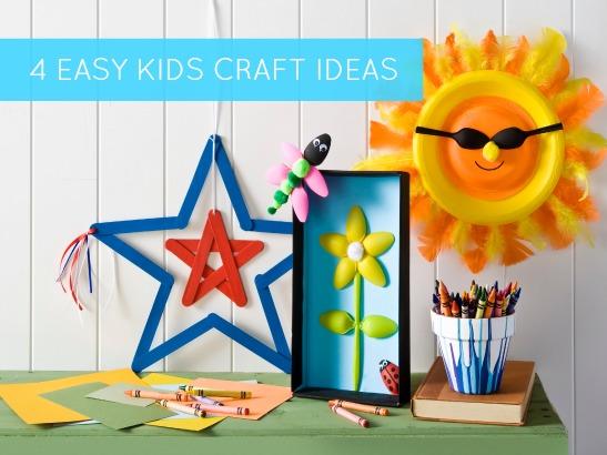 4 Easy Summer Kids Craft Ideas