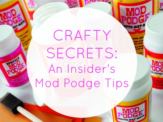 Secrets of the Crafting Trade ... How-To Decoupage Technique Tips