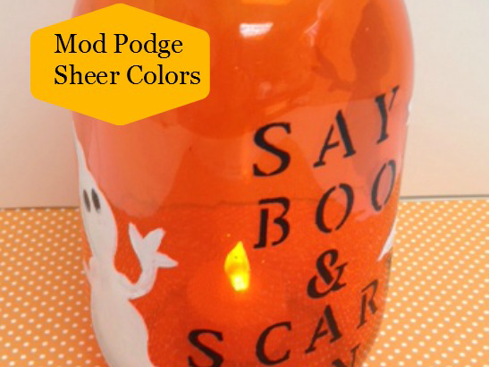 How to Create a Halloween Luminary Using Mod Podge Sheer Colors