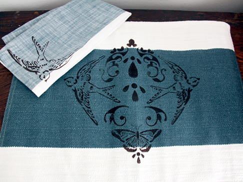 Stencil1 Napkin and Placemats for Your Next Dinner Party