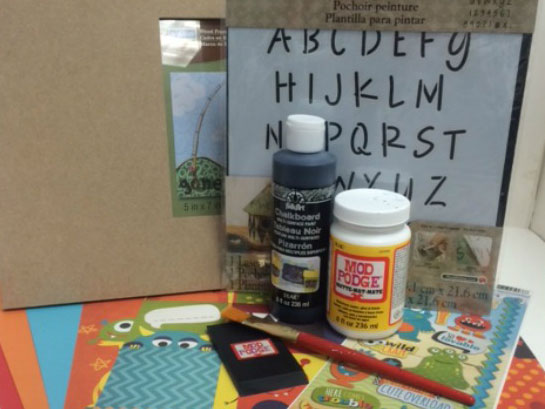 Learn How to Combine Chalkboard and Decoupage!