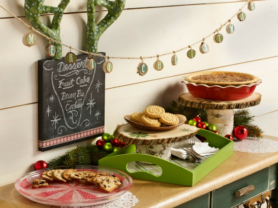 Mod Podge Home for the Holidays Week 8 - Holiday Dessert Tablescape