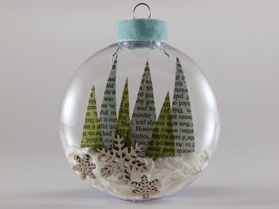 How To Make a Book Page Glass Ornament