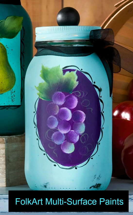 How to Paint Grapes Easily using FolkArt Multi-Surface Paints with Priscilla Hauser!