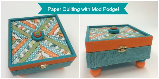 How to Create a Paper Quilt using Mod Podge!