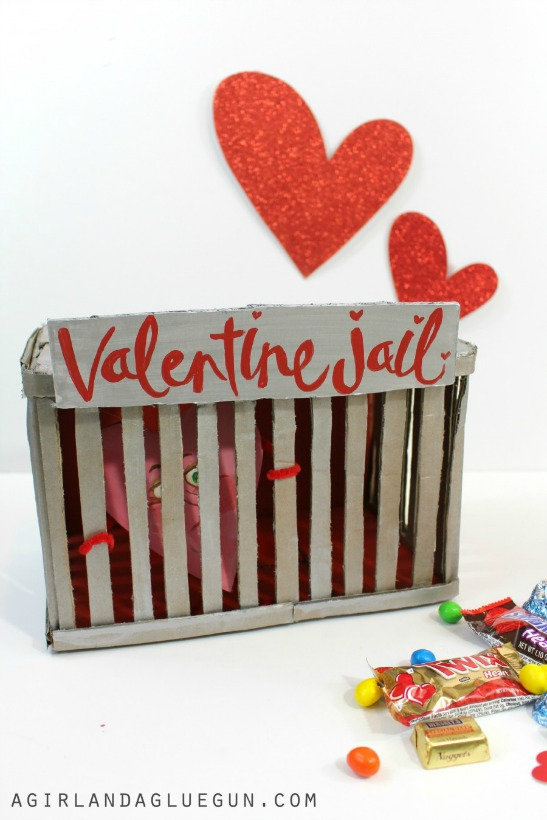 Forget Heartbreak Hotel, How U0027bout A Heartbreak Jail Instead? This  Cardboard Box Valentineu0027s Day Easy DIY Idea Comes To The Rescue!
