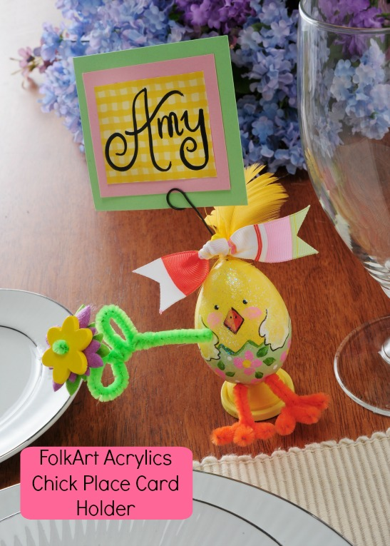 How to Create Chick Place Card Holders for your Spring Celebration Table!