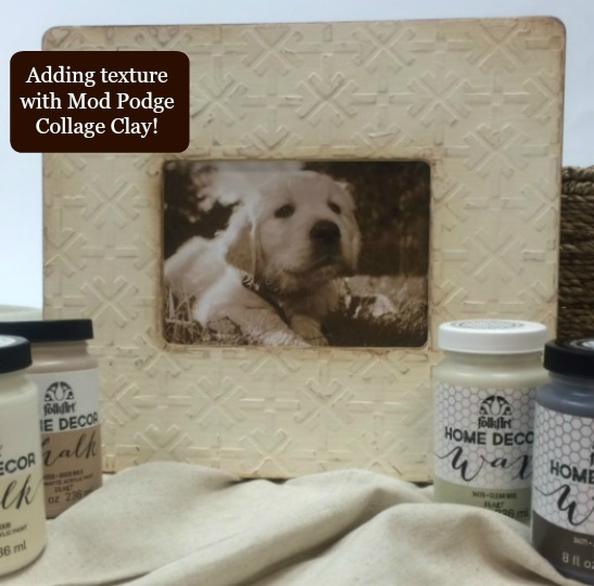 How to Add Texture to Your Projects using Mod Podge Collage Clay to Create Raised Stenciled Effects!