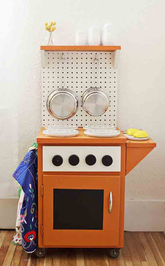 This DIY Rolling Kitchenette From A Beautiful Mess (featured At Top, As  Well) Is Another Great Application For FolkArt Chalkboard Paint.