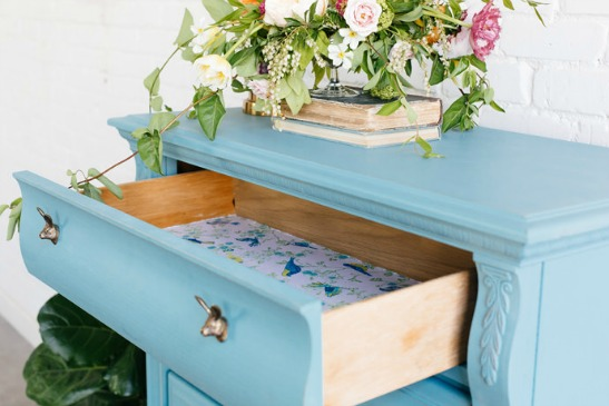 Furniture Upcycle: Drawer Liner DIY