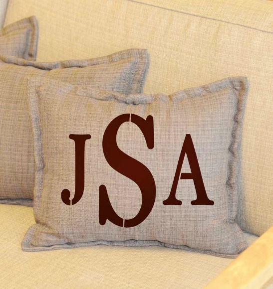 How To Diy Monogrammed Home Decor