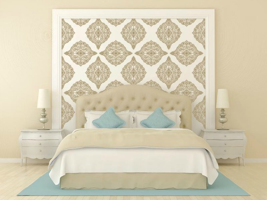 Bedroom Stencil Ideas. Whimsical  How fun is this oversized Peony Stencil This so sweet in a nursery or little girl s room Or we love the idea of giving drama to guest DIY Stenciled Wall Ideas and Tips Plaid Online