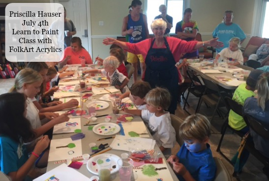 Learning to Paint on July 4th with Priscilla Hauser - How Fun!!