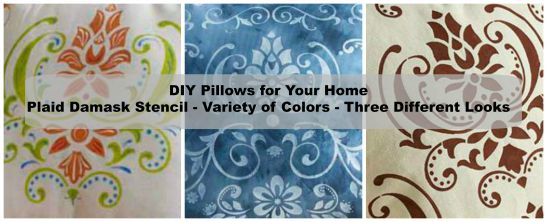 DIY One Stencil, Three Ways -- Home Decor Pillows You'll Want to Create!