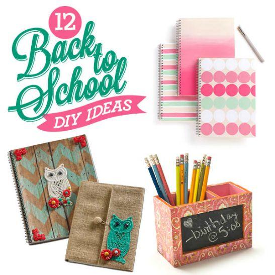 12 back to school diy ideas for School diy ideas