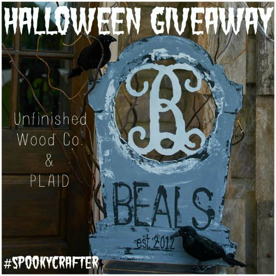 Giveaway: Custom Halloween Monogram & Paint!