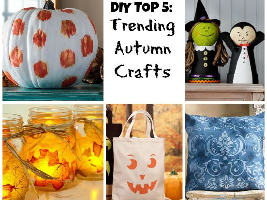 Trending on Pinterest: 5 Crafts for the Fall Season