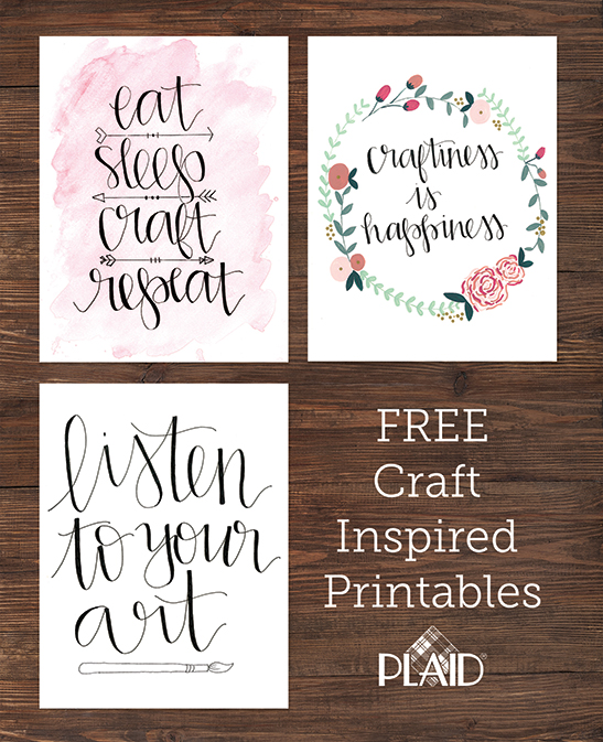 Free craft creativity quote printables from duality for Diy room decor quotes