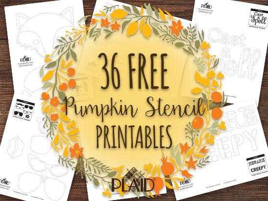 36 Free Pumpkin Stencil Template Printables! | Plaid Online