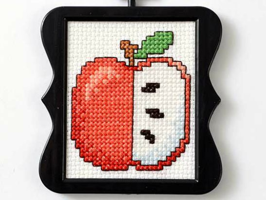 Free Mini Apple Cross Stitch Pattern