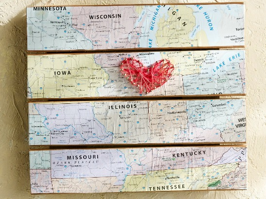Simple String Art & DIY Map Wall Art