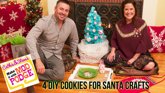 DIY Cookie Plate and Glass for Santa!