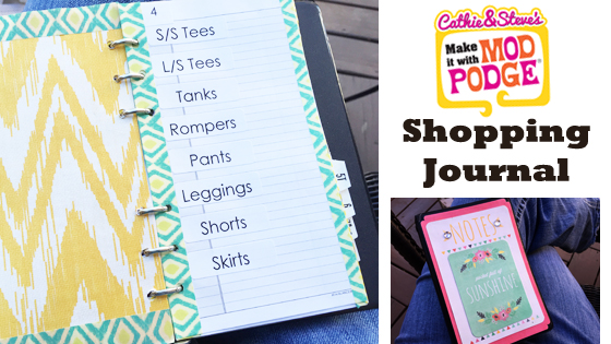 Make It With Mod Podge: DIY Shopping Planner/Organizer Journal