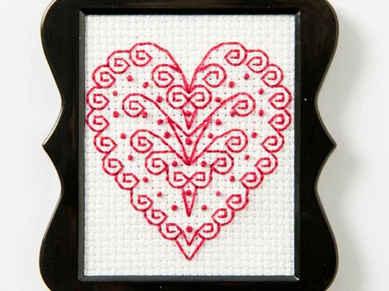 Free Heart Cross Stitch Pattern for Valentine