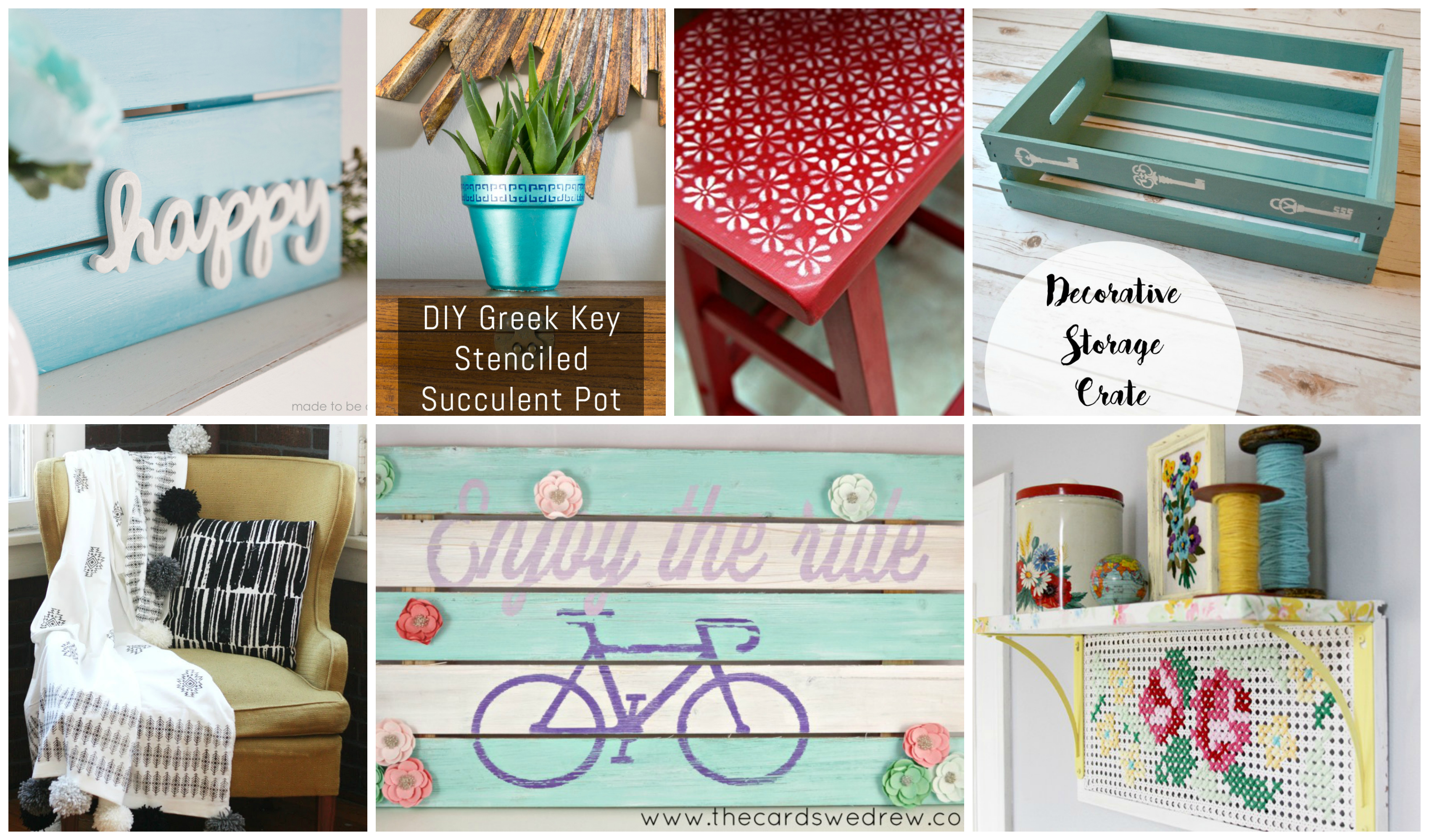 Plaid Creators February Round Up: 10 Beautiful DIY Projects Inspired by 2016 Craft Trends