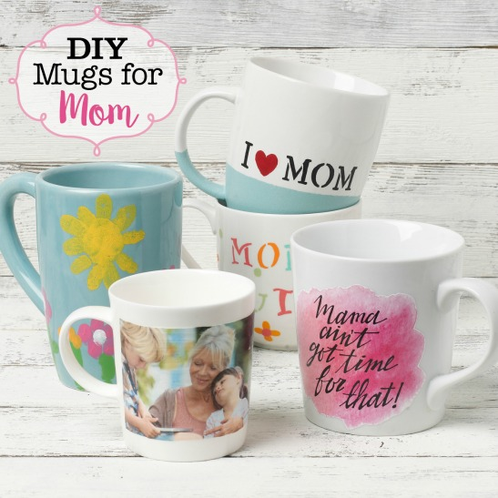 Get More DIY Coffee Mug Ideas For Mom, And Be Sure To Tag Your Creations  #plaidcrafts To Share Them With Us!