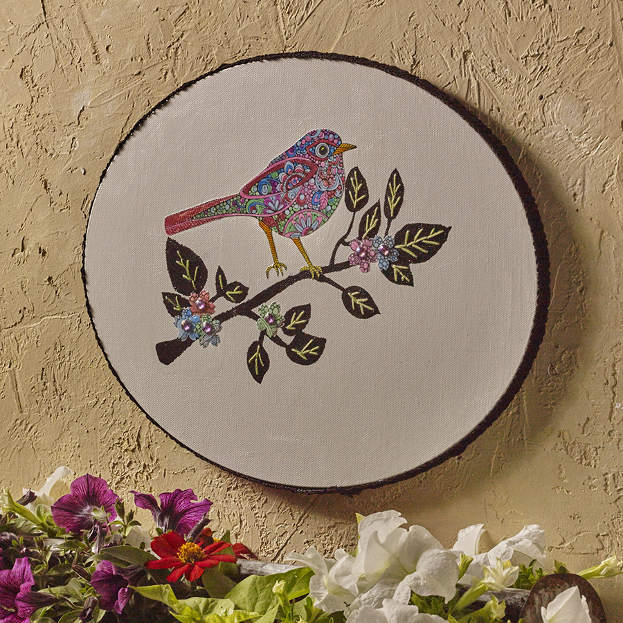 Decoupage And Cross Stitch Are Combined To Make A Beautiful Decorative Piece As Full Of Colors The Spring View Whole Tutorial Check Out