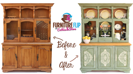 DIY Furniture Flip: French Country Dining Hutch