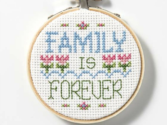 Family is Forever: Free Cross Stitch Pattern Download!