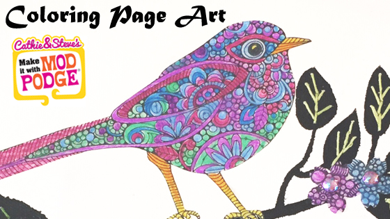 DIY Mixed Media Art with Coloring Pages!